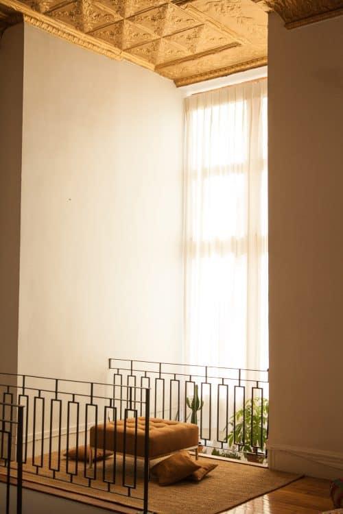 Rideaux de fenêtre sur-dimensionnée