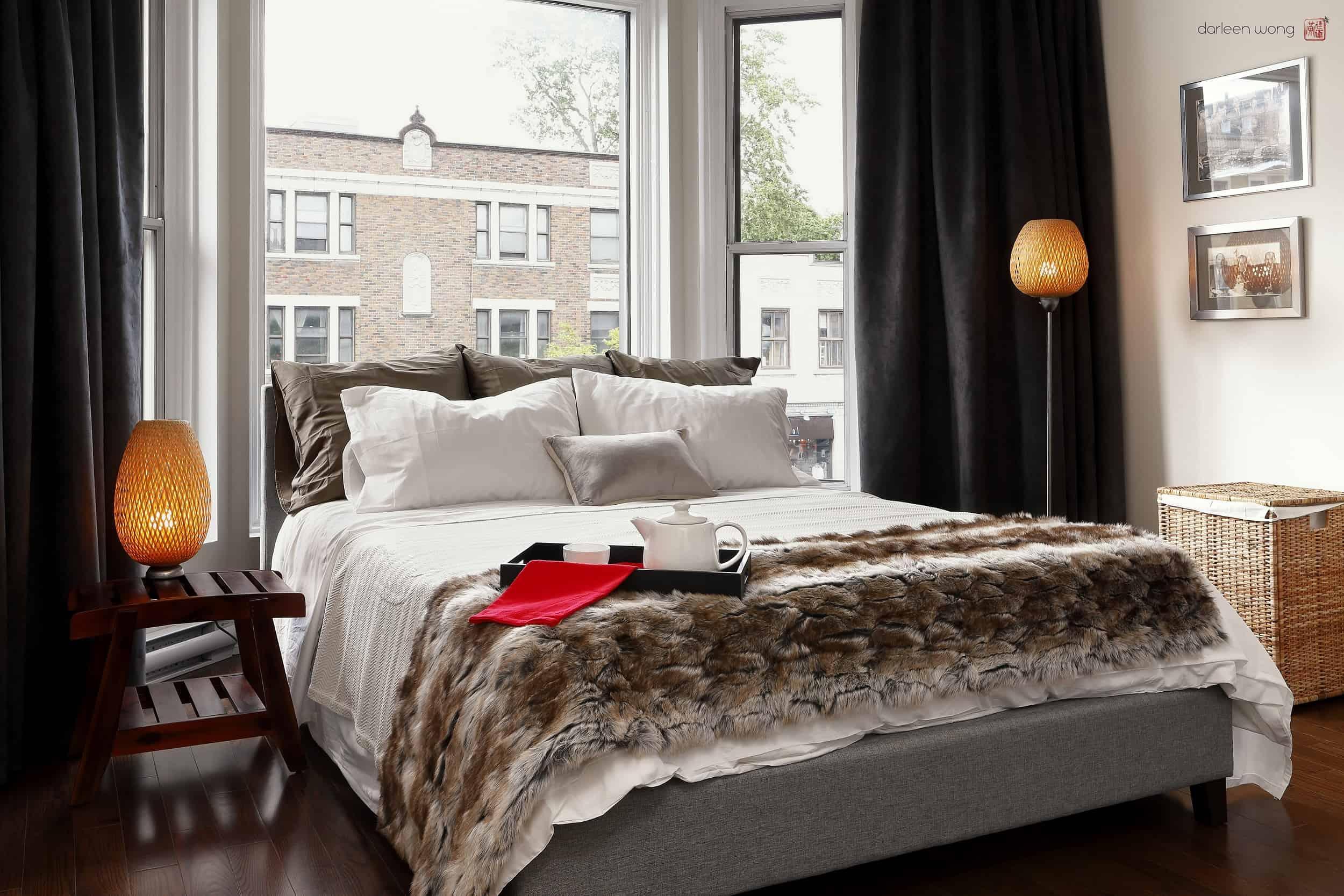 Rideaux opaques pour chambre à coucher